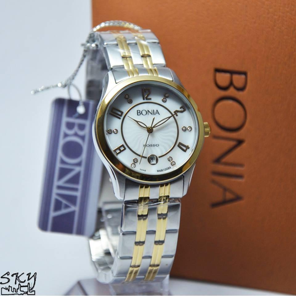 Bonia Jam Tangan Wanita Bnb10305 2315s Silver Stainless Steel Bn10198