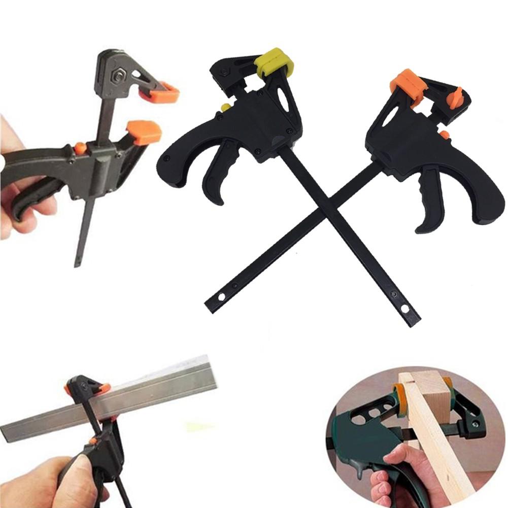 Quick Adjustable Woodworking Clip Quick Grip Squeeze Clamp Wood Carpenter Tools Home Garden Home Clamps Vises Remtesta Lt