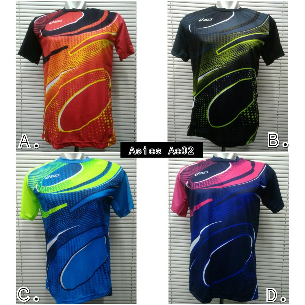 Jersey Kaos Atasan Baju Olahraga Asics Ac03  1b54eb4b38