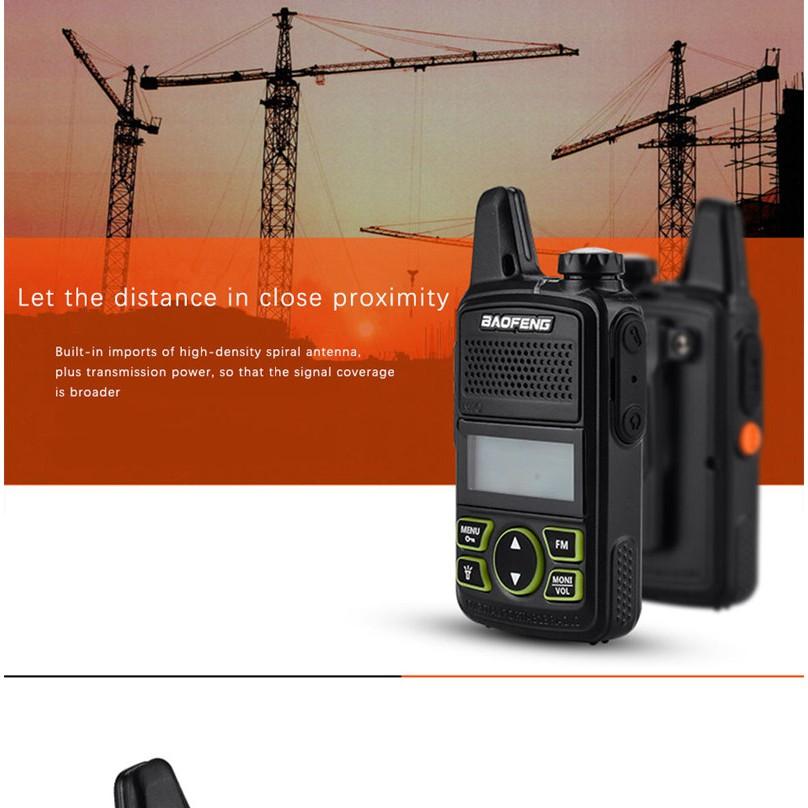 4b76f1f6e06 100% 2pcs BAOFENG BF-T1 MINI Kids Walkie Talkie UHF Portable Two Way Radio  ...