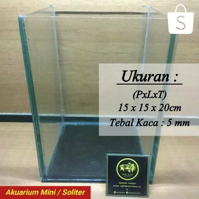 Akuarium Soliter Ikan Cupang Ikan Guppy Ukuran 15 X 15 X 20 Cm Shopee Indonesia