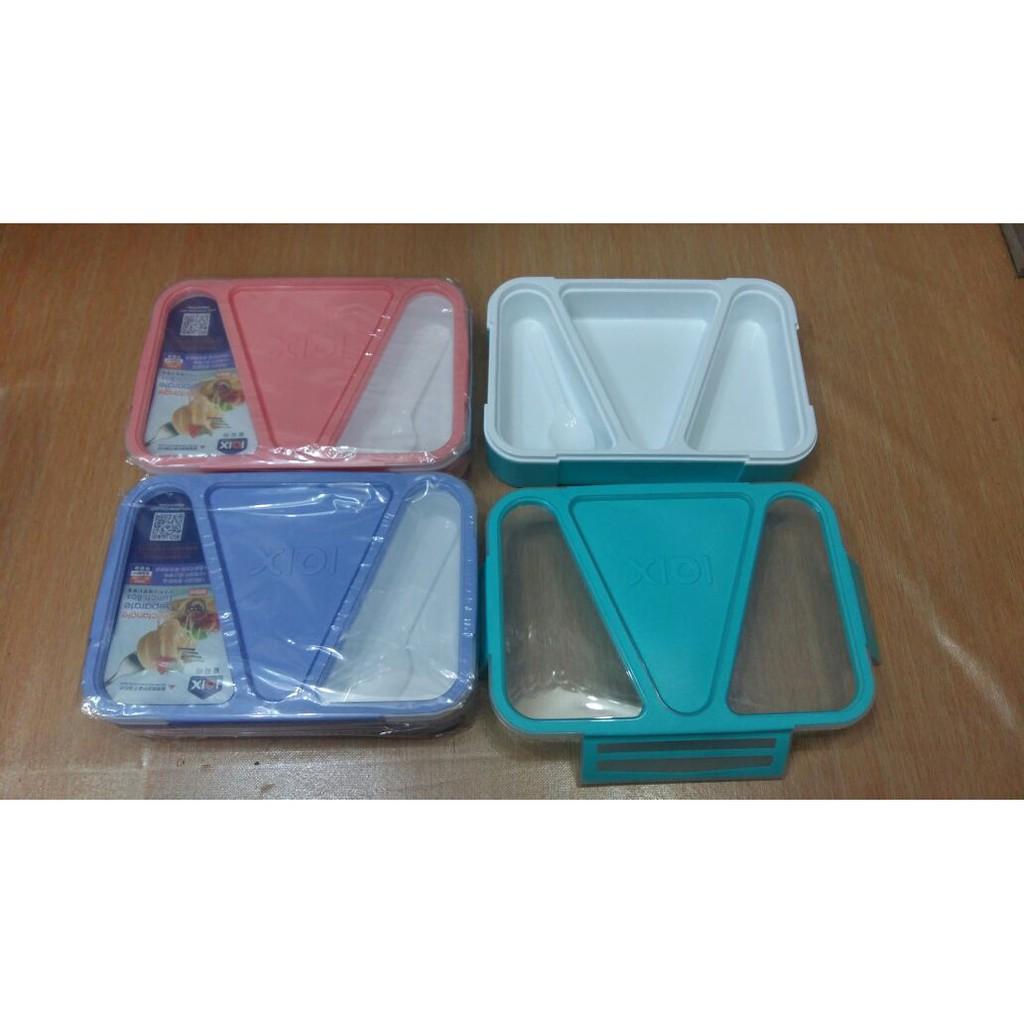 Lunch Box Kotak Makan Iqix 3sekat Bekal Anti Bocor Model New 578 Yooyee Bento Persegi Shopee Indonesia