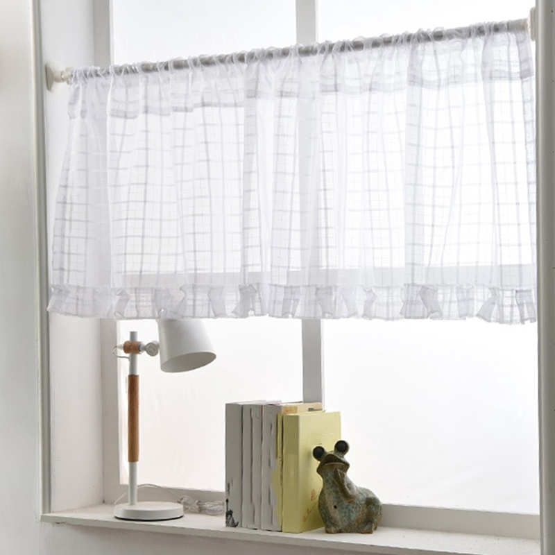Short Curtains Punch Free Curtain Kitchen Partition Cabinet Curtain Shopee Indonesia