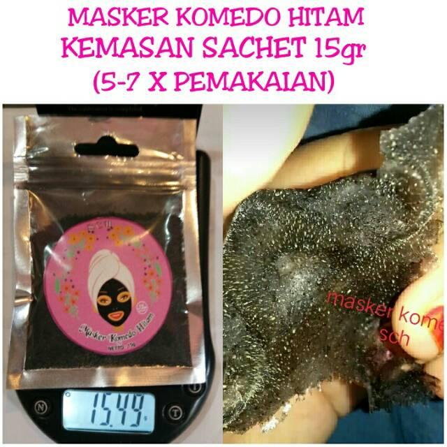 Masker Komedo Gelatin Hitam 15gr Shopee Indonesia
