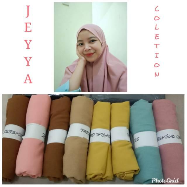 Hijab Bergo Mariam Variasi Warna Milo Kuning Kunyit Dusti Mocca Salem Shopee Indonesia