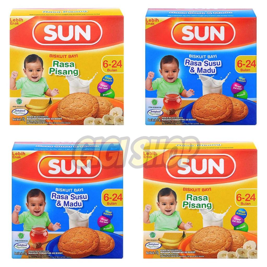 Biskuitkemasan: Sun Biskuit Bayi 6+ Rusk Kemasan 75 Gr