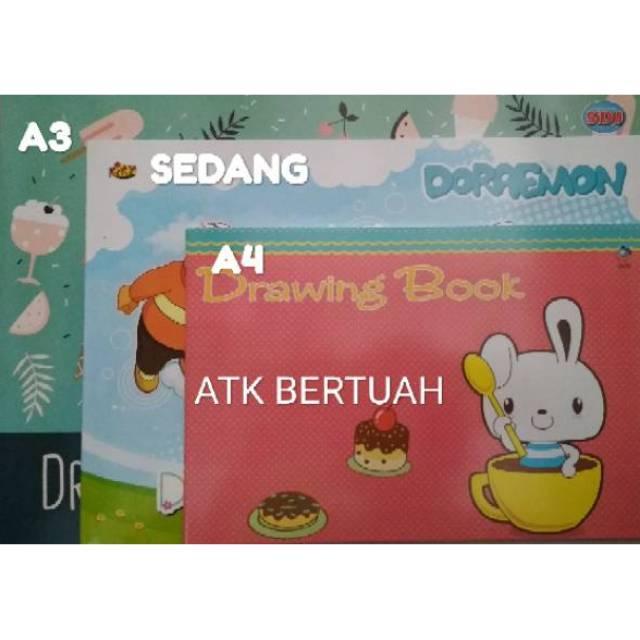 1 Buah Buku Gambar Besar A3 Kecil A4 Shopee Indonesia