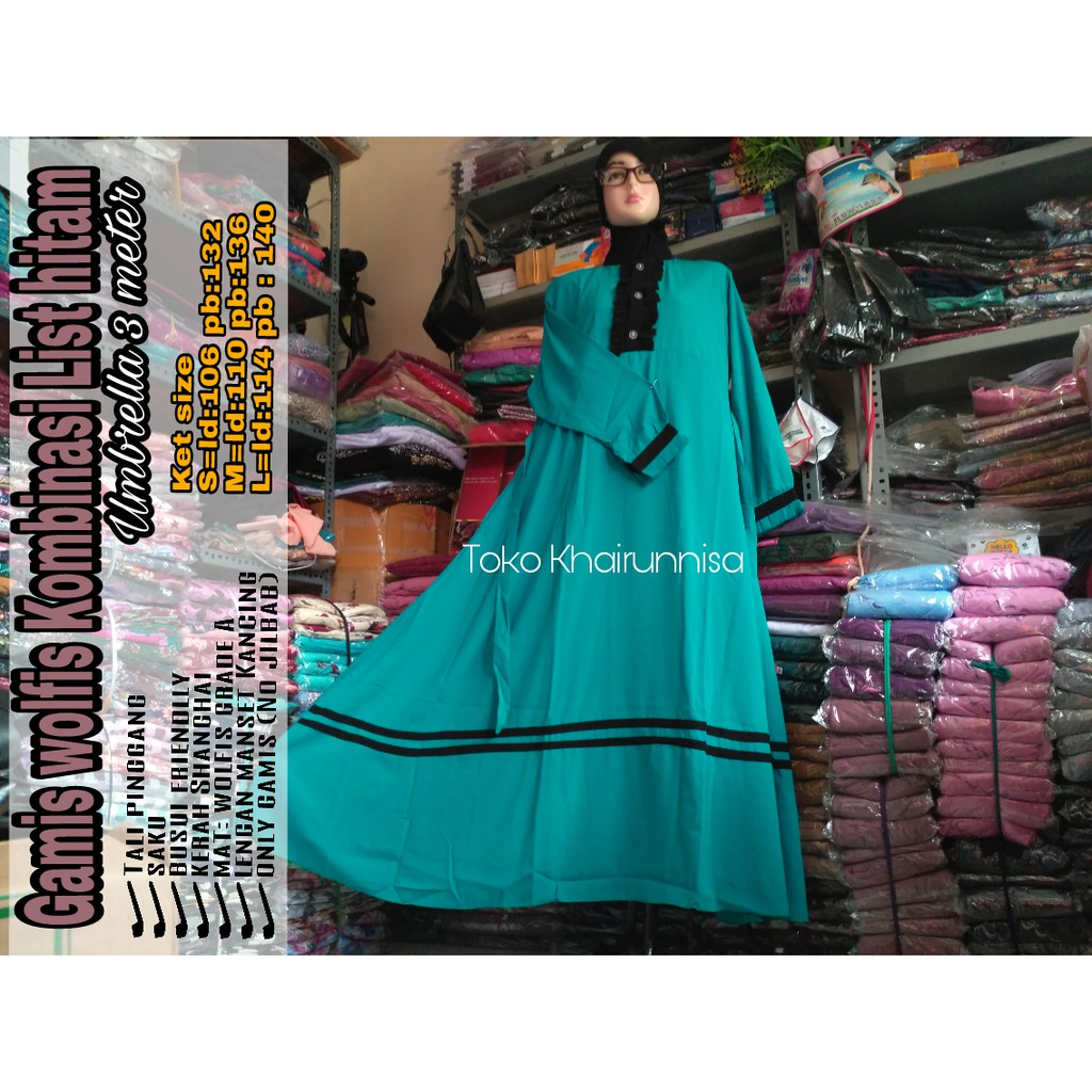 Jilbab Wolfis Antem Jumbo Non Cadar Shopee Indonesia Tas Import Harriet Gratis Hijab Instan Najwa