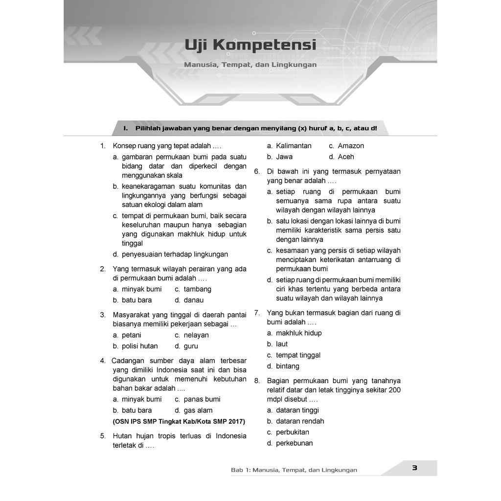 Buku Pendamping Ips Smp Kelas 7 Kunci Jawaban Incer Shopee Indonesia