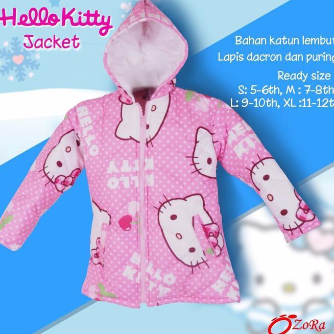 harga Sale Jaket Anak Hello Kitty Perempuan Cewek Import Branded Ozora Winter .., Shopee.co.id