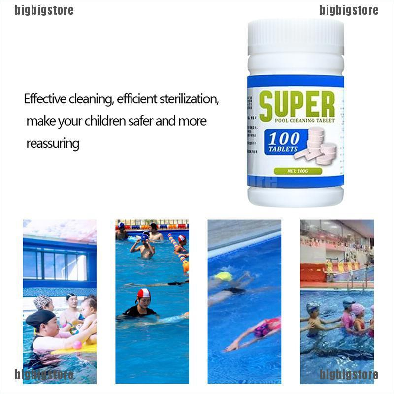 Big 100pcs Pool Cleaning Effervescent Chlorine Tablet Effervescent Tablets Cl Shopee Indonesia