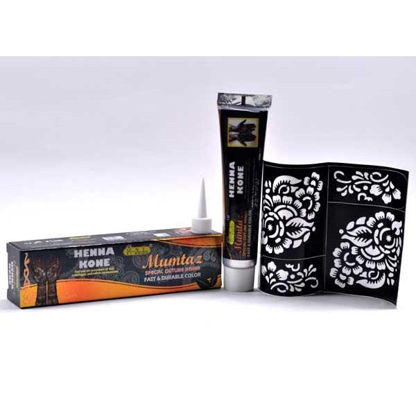 Henna Untuk Alis: Black (Free Cetakan Tato) MIN 12