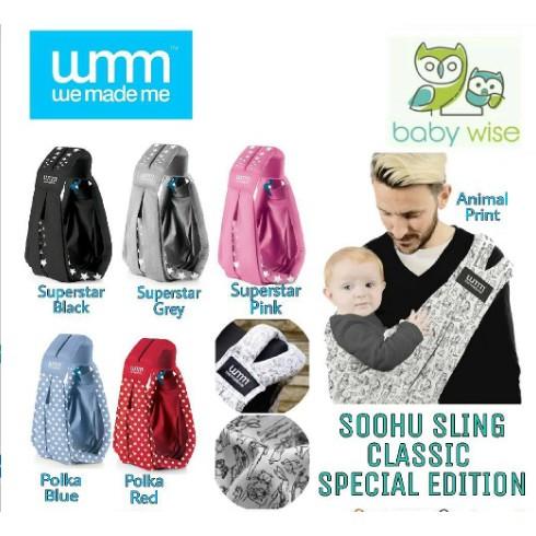 INSTANT CUKIN sz M (45-60kg) cukin instant pouch carrier gendongan bayi Akachan katun model pupsik | Shopee Indonesia
