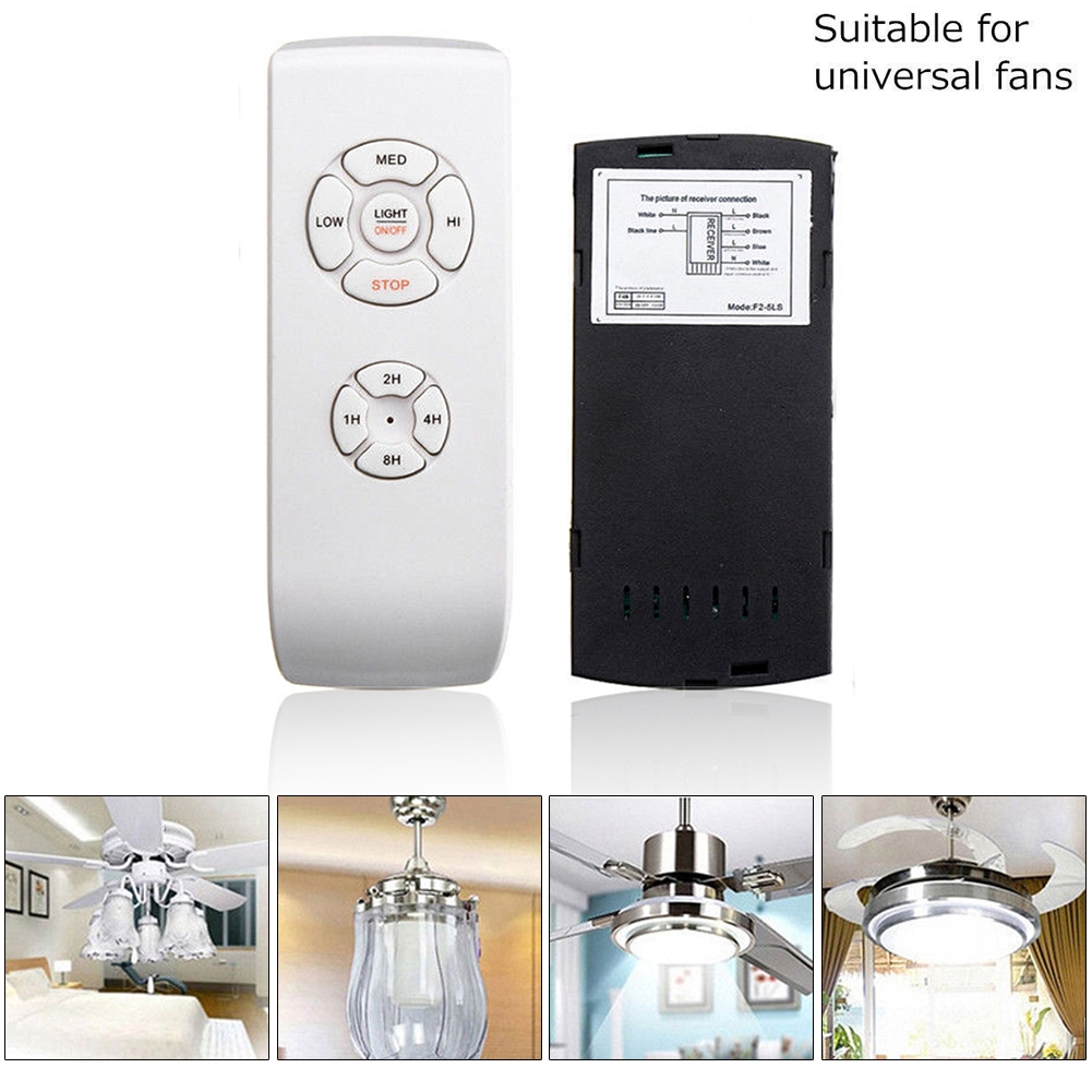 Ceiling Fan Light Lamp Timing Wireless Remote Controller Kit Universal 110v 220v Shopee Indonesia