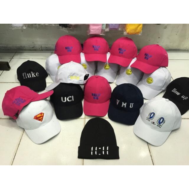 Topi baseball cap custom gambar bordir  ea4e0b117a