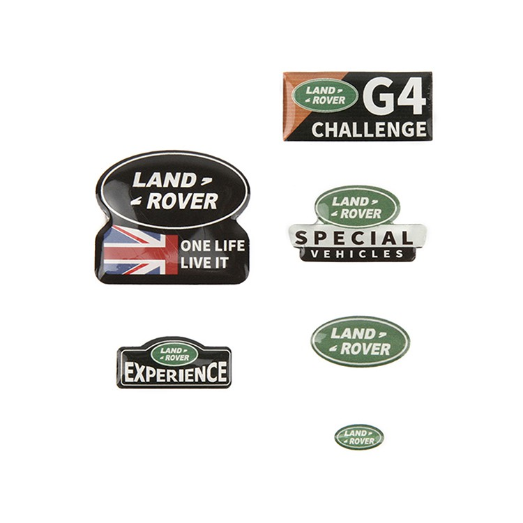 New LAND ROVER and DEFENDER metal logo sticker for TRAXXAS  TRX4 RC4WD D90 D110