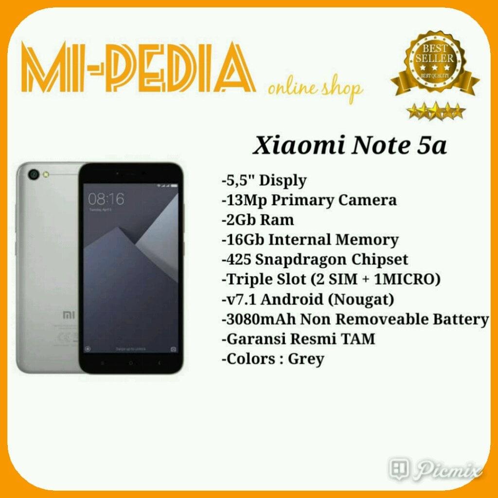 Promo New Xiaomi Redmi Note 5a Prime Ram 3gb Internal 32gb Grs 2gb 16gb Bnib Garansi Resmi Tam 1 Thn Abu Tua 7452 Shopee Indonesia
