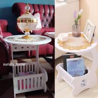 Coffee table - meja bulat bisa buat ngopi - diameter 35 cm ...