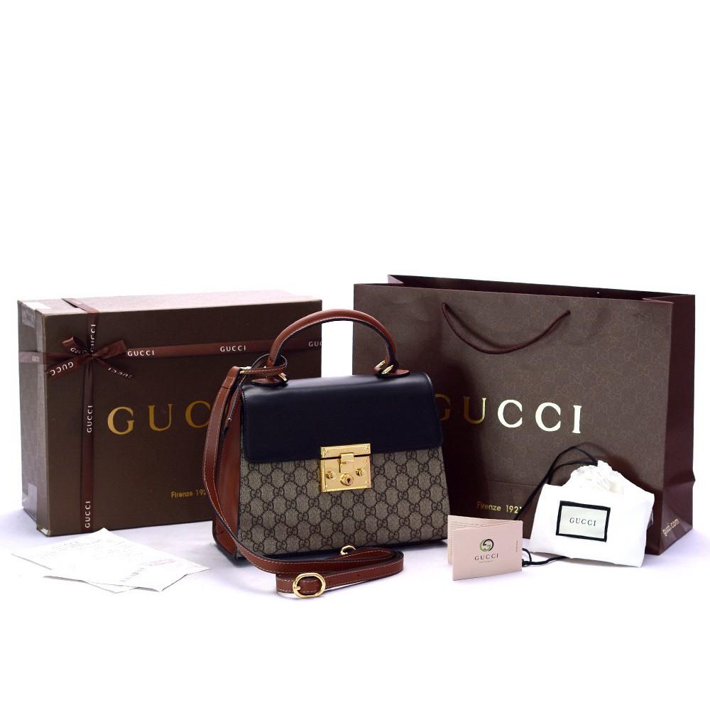 Gucci Padlock GG Supreme Shoulder Bag - Tas Wanita  ae4aa2602d