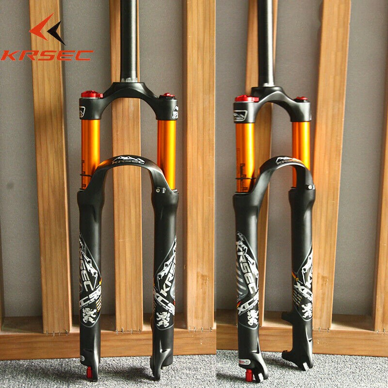 "KRSEC 26//27.5//29"" MTB Bike Fork 100mm Travel Air Suspension Fork Rebound Adjust"