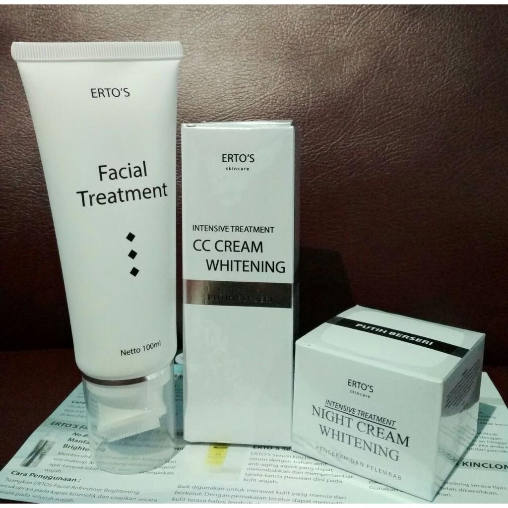 Ertos Cc Cream Whitening 30 G Bpom Original Intensive Treatment Toner Facial Refreshner Brightening Erto 100 Ml Skincare Kf 89 Pelembab Wajah Halal Shopee Indonesia
