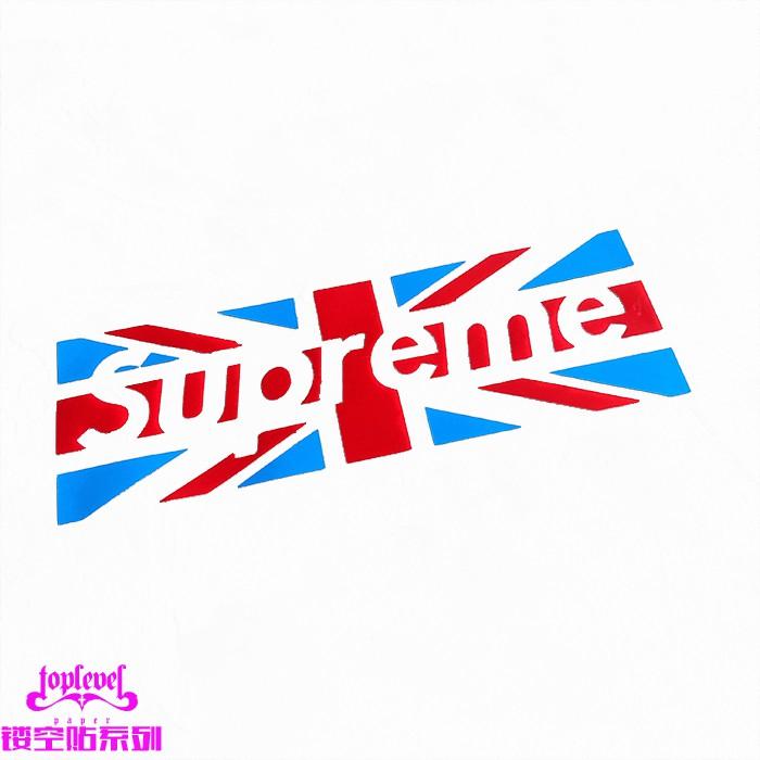 Stiker Logo Supreme Motif Bendera Inggris Untuk Mobil Shopee