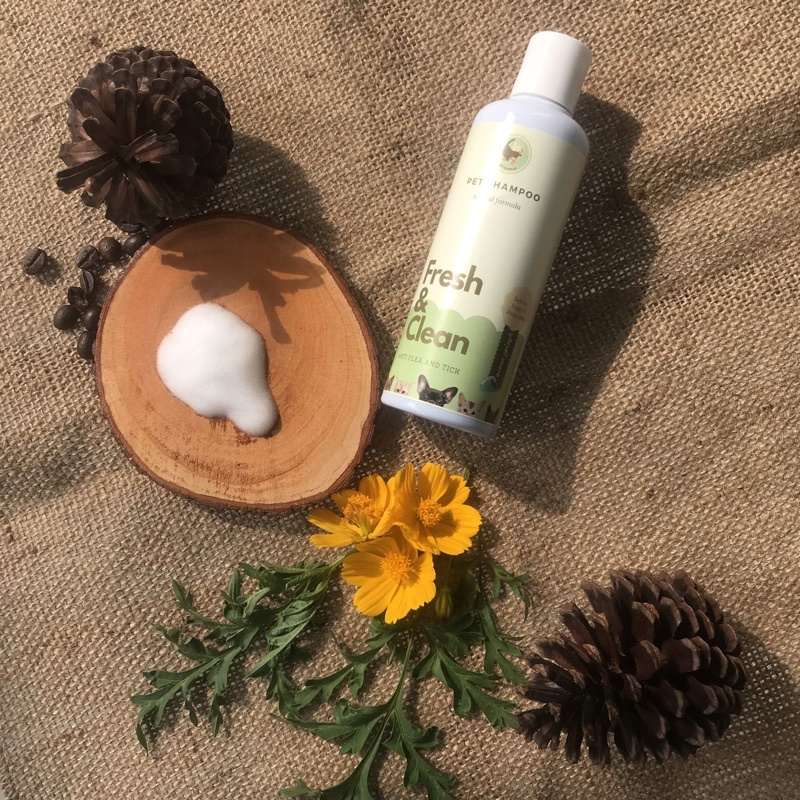 Shampo kucing anjing | shampo anti gatal dan kutu | cat and dog shampoo | natural pet shampoo 250ml-Ocean splash