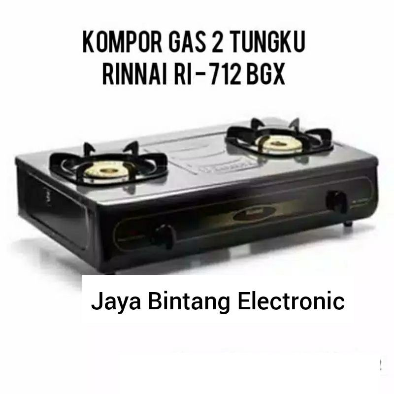 Rinnai Kompor Gas 2 Tungku Jumbo RI - 712 BGX