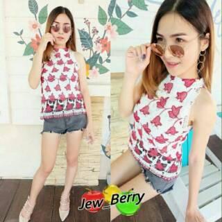 ec84ccd3f2502 Kendra Top Import   Atasan Brokat   Blouse   Baju Cewek   BKK   Baju Murah    Summer Collections