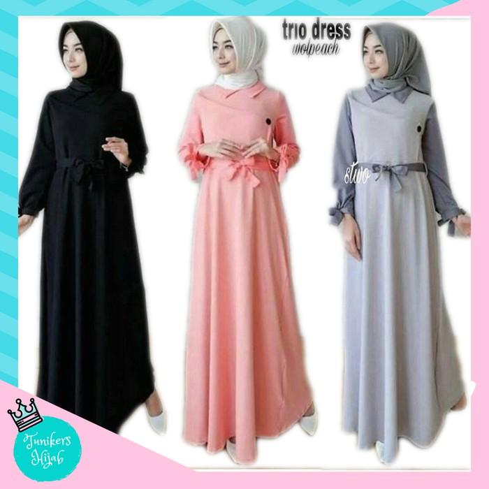 dress+dress+muslim+pakaian+wanita+gamis+kaftan+maxi+dress - Temukan Harga  dan Penawaran Online Terbaik - Februari 2019  ca9c711b39
