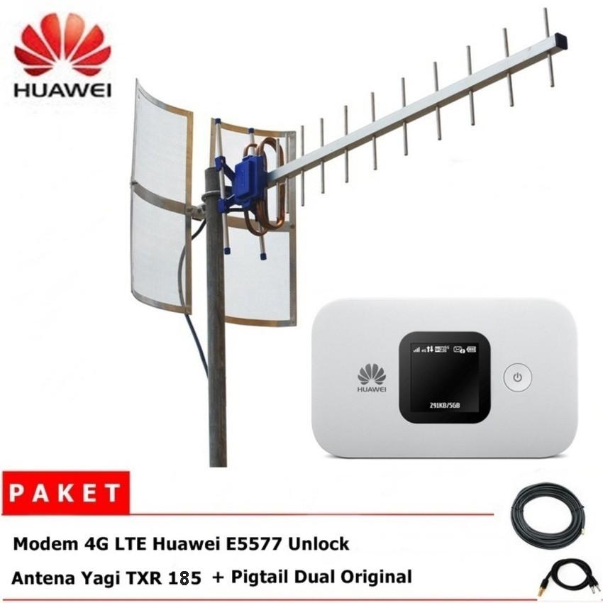 Paket Antena Yagi TXR 185 Pigtail Dual + Modem Wifi Huawei E5577c 150 Mbps unlock all gsm | Shopee Indonesia