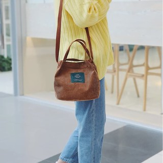 Ennwen TC41 Korea Fresh Solid Color Mini Corduray Shoulder Bag / Tas Bahu