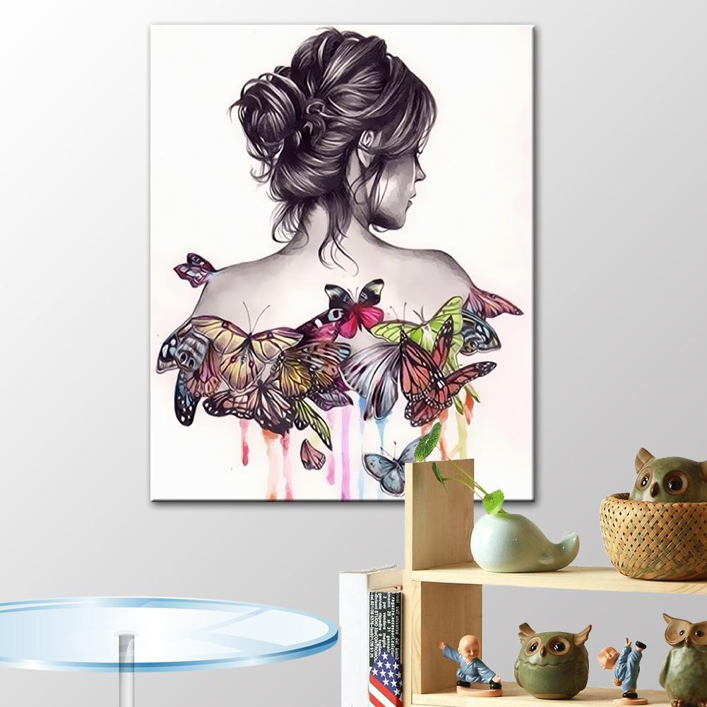 Diy Lukisan Dinding Kanvas Kupu Kupu 3d Tanpa Bingkai Shopee Indonesia