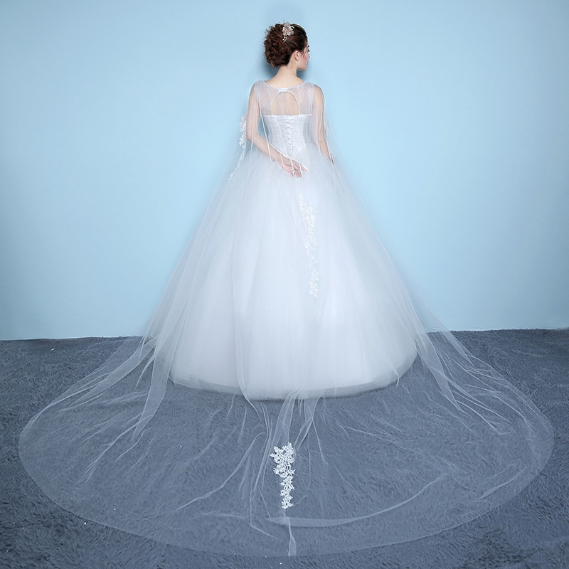 Gaun Pengantin Versi Korea Dari Gaun Bahu Kata Wedding Dress Gaya Perjalanan Cina Shopee Indonesia