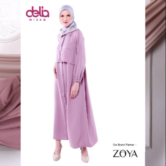 Baju Gamis Zoya Lebaran 2020 Amor Dress Delia Hijab Shopee Indonesia