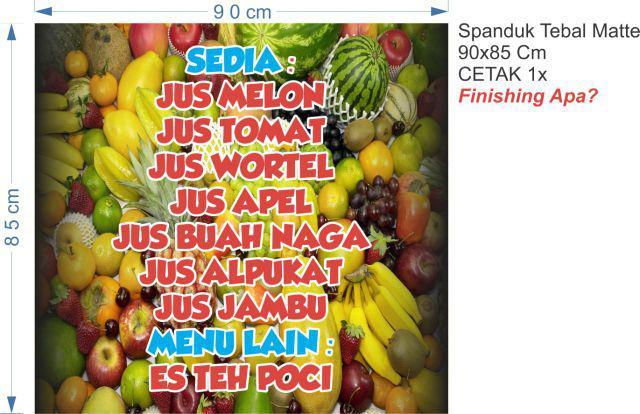 Contoh Spanduk Kios Buah - desain spanduk kreatif