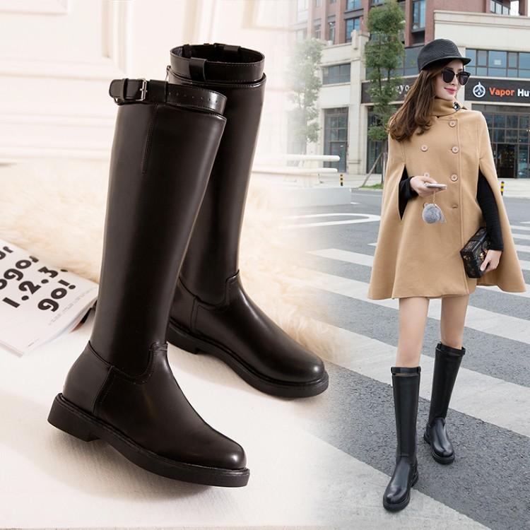 Sepatu Boots Panjang Selutut Gaya Korea Untuk Wanita Shopee