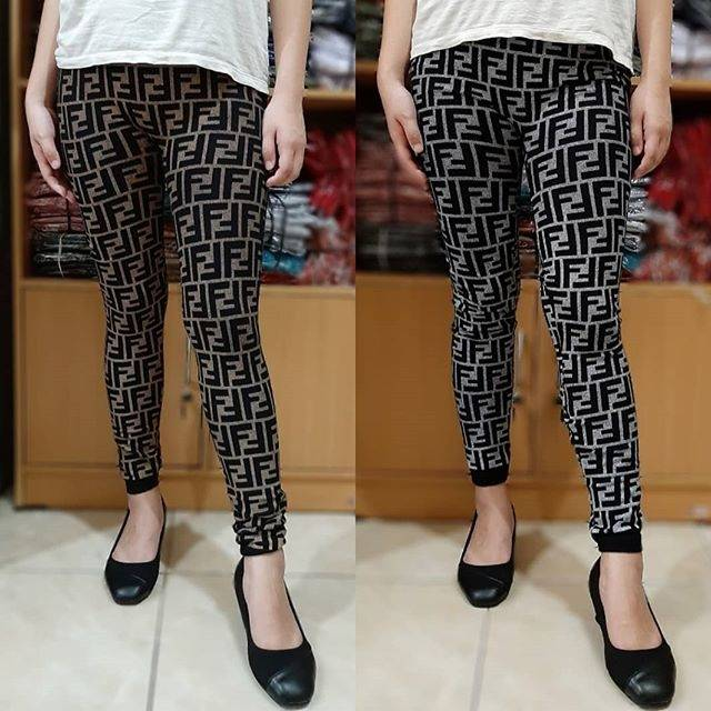 Celana Legging Fendi Fullprint Panjang Import Shopee Indonesia