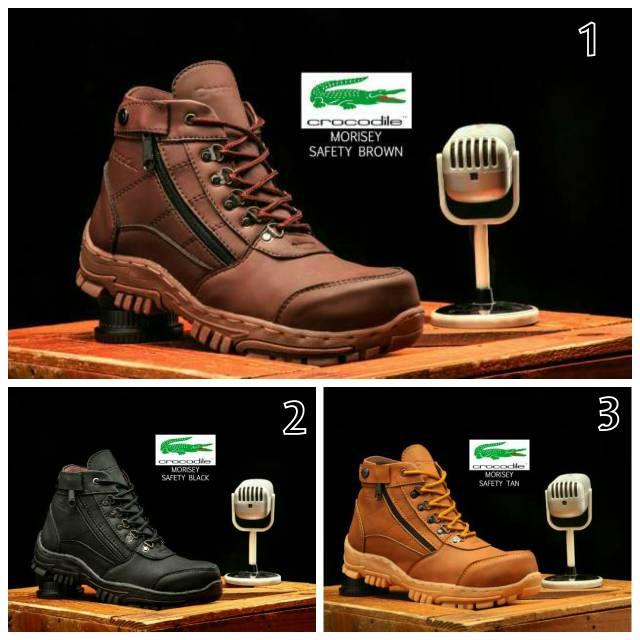 Sepatu boots safety pria crocodile armor delta proyek lapangan Milenium  Husky Athena  bdbb26ebfb