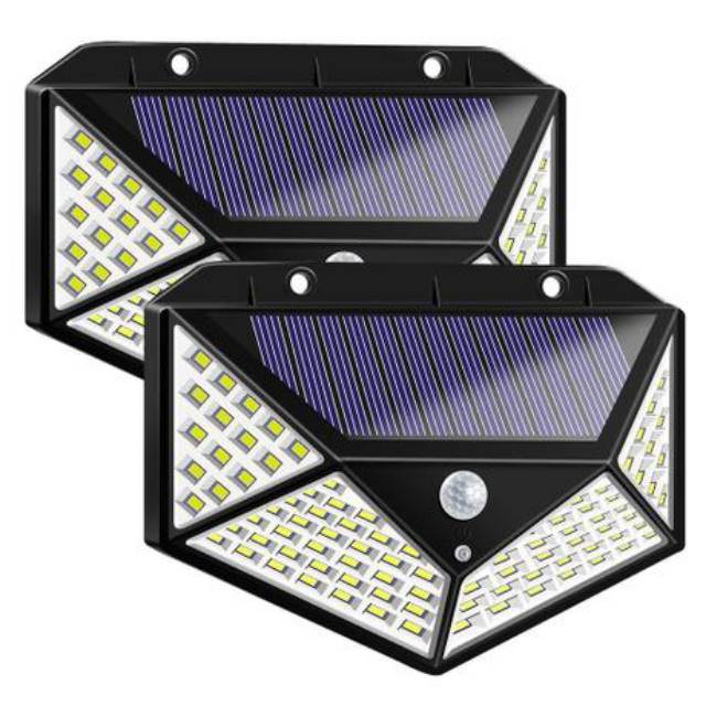 Lampu Taman Pentagon 100 Led Solar Cell Emergency Outdoor Light Shopee Indonesia