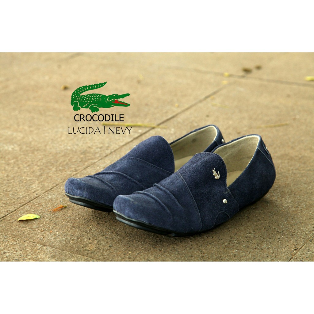 DNG  CROCODILLE ITALIC ( CIC150377 ) - Sepatu Slop Kulit Suede Casual  Formal Leather Slip On Shoes  e51870269c