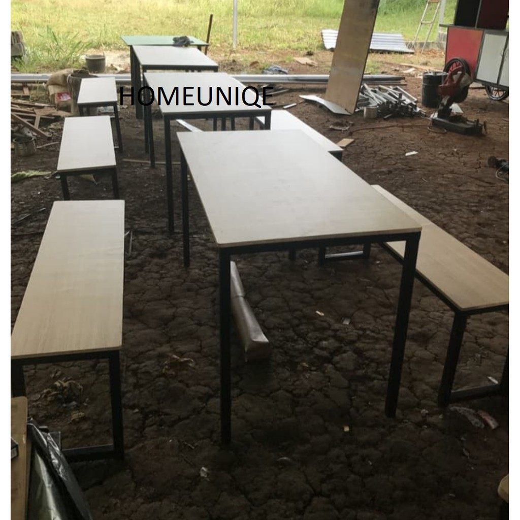 Meja Kursi 1 Set Cafe Resto Bahab Taco / Meja Makan/ Meja Warung/ Meja  Jualan   Shopee Indonesia