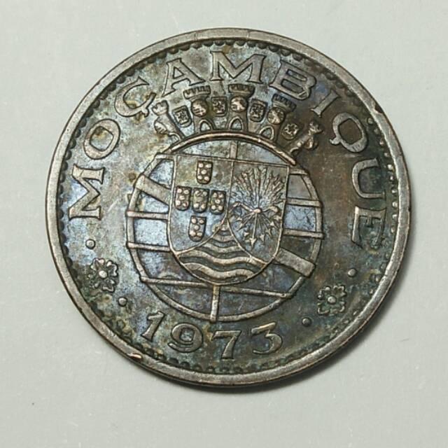 Koin kuno 50 cents dan 2$50 Mocambiq