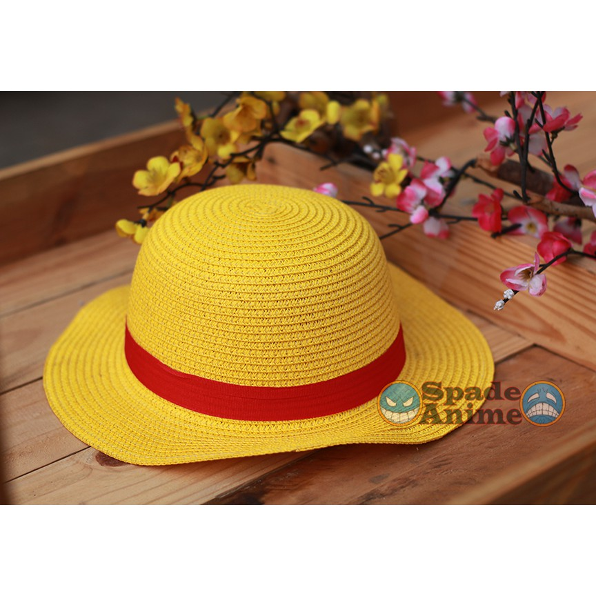 Topi Jerami Monkey D Luffy One Piece Topi Mugiwara Coslplay One Piece