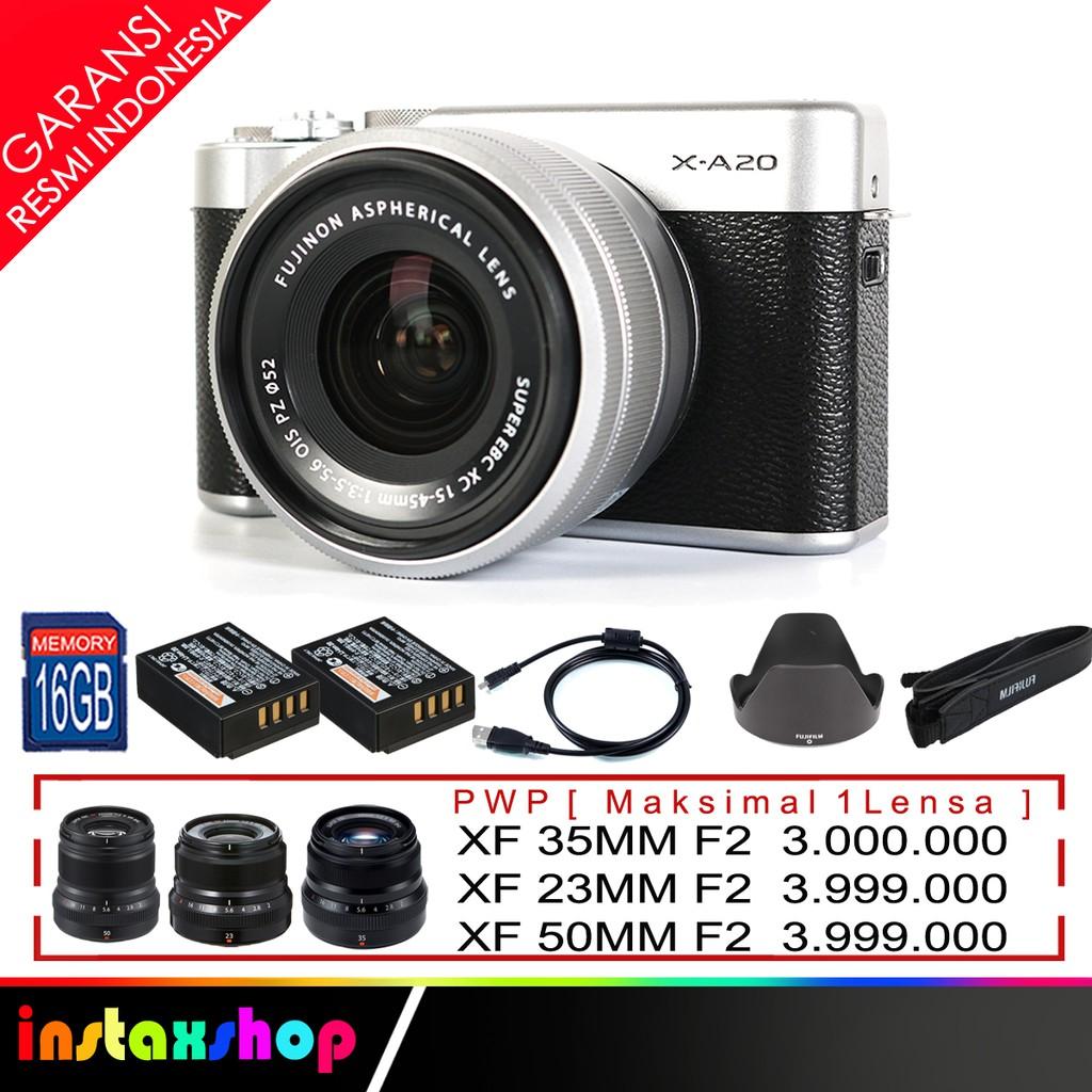 Fujifilm Xa10 X A10 Kit 16 50mm Brown Shopee Indonesia A3 Xc F 35 56 Ois Ii Pink Pwp Xf35mm F2