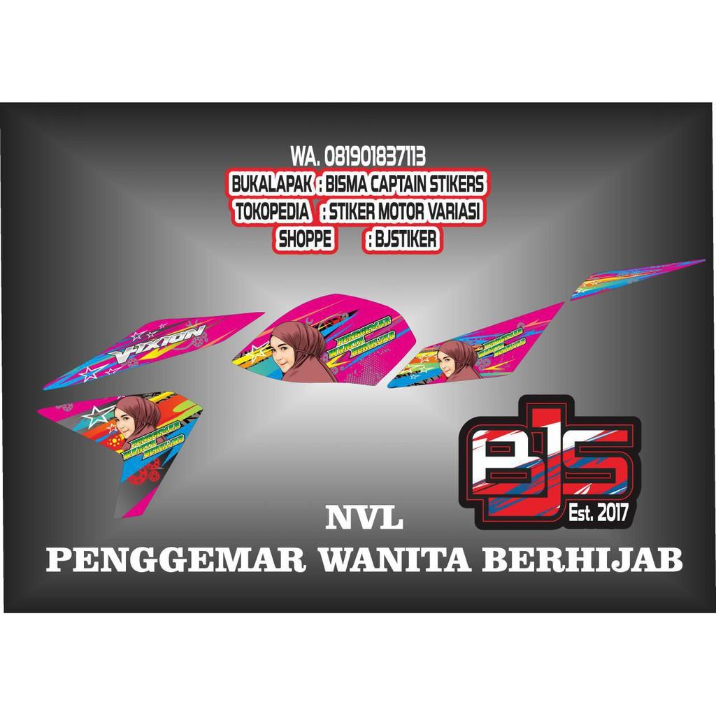 Stiker Striping List Motor New Vixion Lighning Penggemar Wanita Berhijab Shopee Indonesia