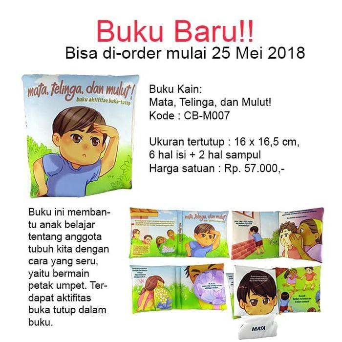 Buku Bantal Softbook Buku Kain Mata Telinga Dan Mulut Shopee Indonesia