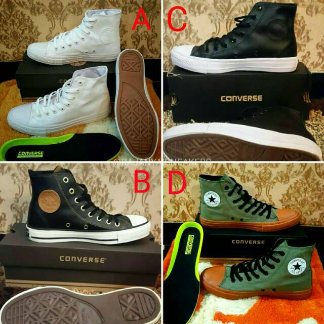 Converse Chuck Taylor All Star High Kulit Asli  0d6519429f