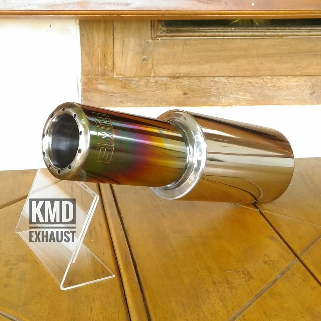 Knalpot Racing R9 Akrapovic Shopee Indonesia Full System All Type Klx 250 New Mugello Black Klx250