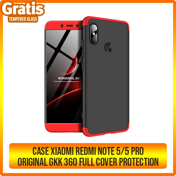 save off fea86 ffc2d CASE XIAOMI REDMI NOTE 5 / NOTE 5 PRO ORIGINAL GKK 360 FULL COVER PROTECTION